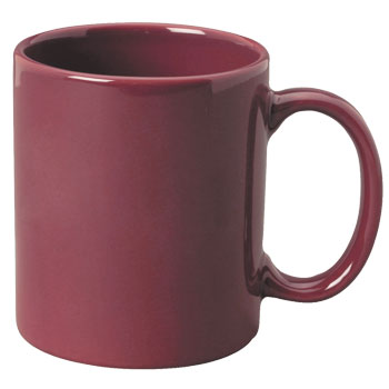 11 oz c-handle coffee mug - maroon