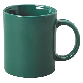 11 oz c-handle coffee mug - green