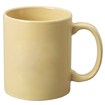 11 oz c-handle coffee mug - sand
