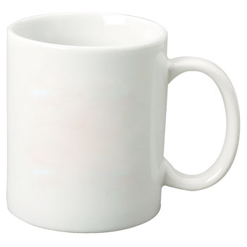 11 oz porcelain mug - white