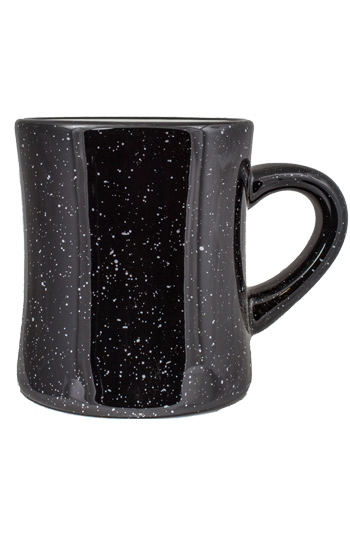 10 oz Santa Fe Diner Mug, Black colored exterior and White Interior