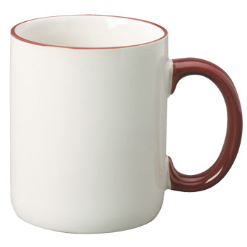 12 oz halo c-handle coffee mug - maroon