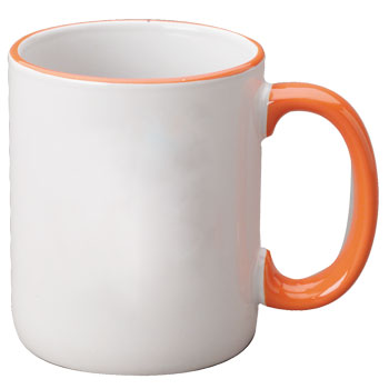 12 oz halo c-handle coffee mug - orange