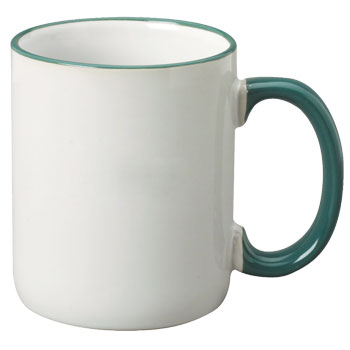 12 oz halo c-handle coffee mug - green