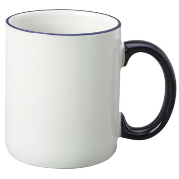 12 oz halo c-handle coffee mug - cobalt blue