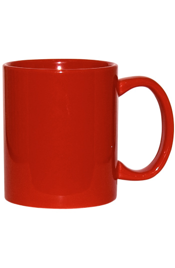 11 oz c-handle coffee mug - Red In and Out