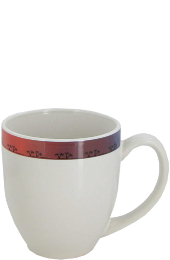15 oz bistro coffee mug - white/palm