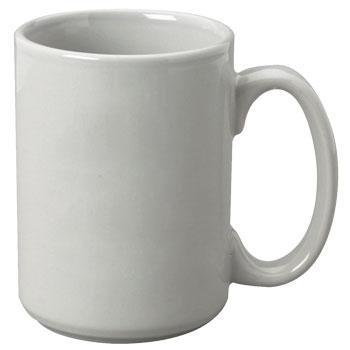 15 Oz El Grande Ceramic Mug Light Gray