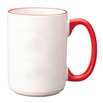 15 oz halo el grande mug - red handle