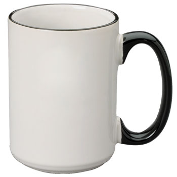 15 oz halo el grande mug - black handle
