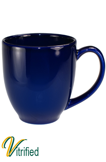 15 oz cancun bistro coffee mug - Cobalt Blue - Vitrified