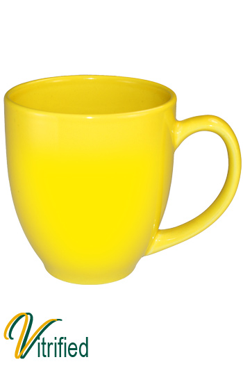 15 oz cancun bistro coffee mug - Lemon Yellow - Vitrified