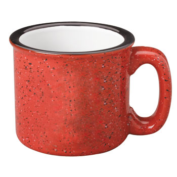 15 oz campfire stoneware mug - red out