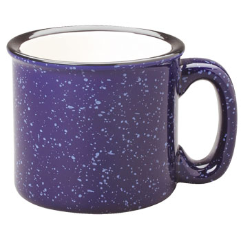 15 oz campfire stoneware mug - cobalt blue out
