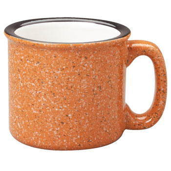 15 oz campfire stoneware mug - terracotta out