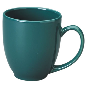15 oz bistro coffee mug - green