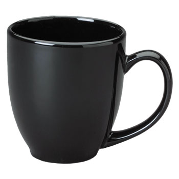 15 oz bistro coffee mug - black