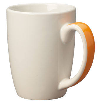 11 oz accent challenger mug - orange handle