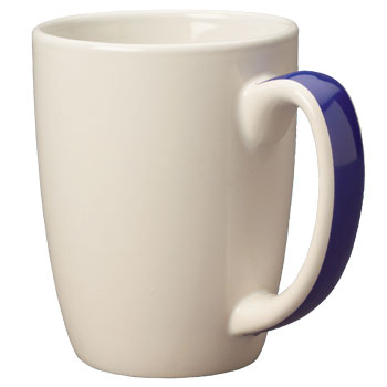 11 oz accent challenger mug - cobalt blue handle