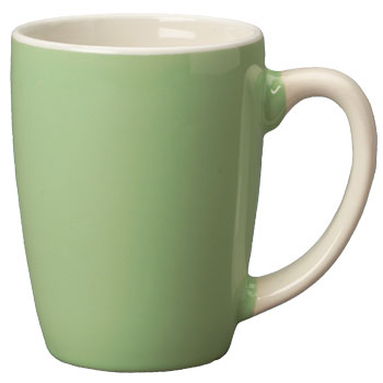 12.5 oz san diego pastel mug - mint green out - white in