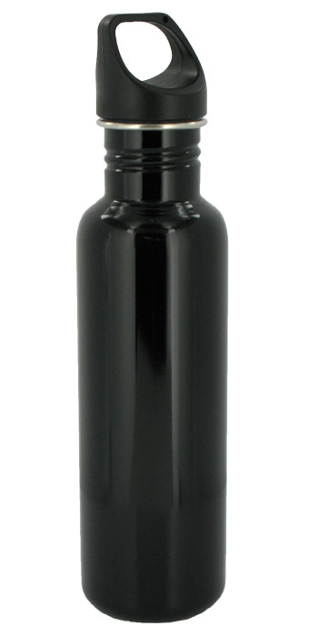 stainless steel 26 oz excursion sports bottle - black