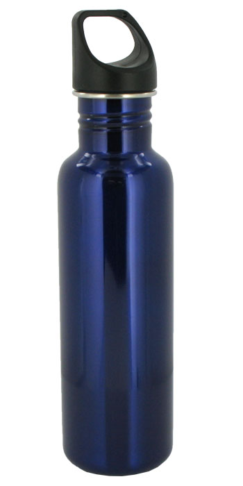 stainless steel 26 oz excursion sports bottle - blue