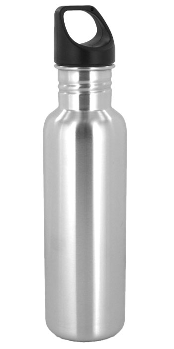 stainless steel 26 oz excursion sports bottle - silver