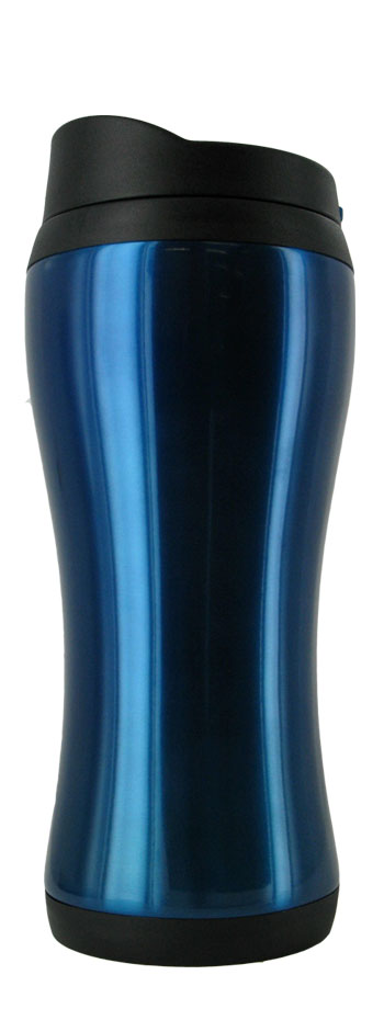 14 oz stainless steel blue urbana travel mug