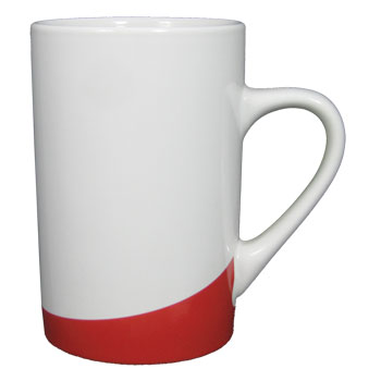 12 oz beaverton coffee mug - red