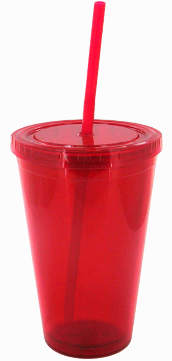 16 Oz Red Journey Travel Cup With Lid And Straw 3340041