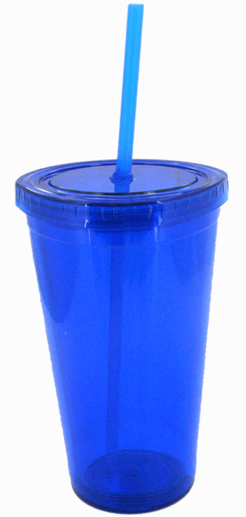 16 Oz Blue Journey Travel Cup With Lid And Straw 3340042