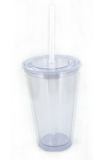 16 Oz Clear Journey Travel Cup With Lid And Straw 3340043