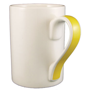 13 oz orlando coffee mug w/ yellow handle