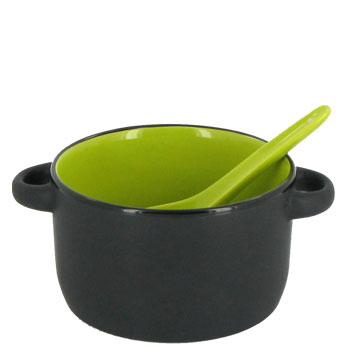 12.5 oz hilo bowl with spoon - rye green