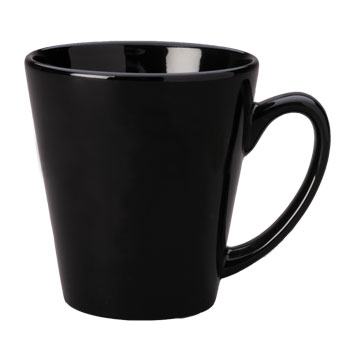 12 oz tulsa latte mug - black