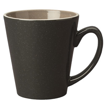 12 oz newport latte mug- charcoal gray