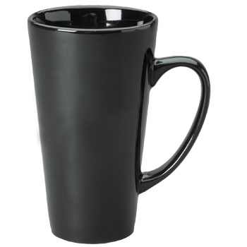 16 Oz Glossy Large Funnel Ceramic Latte Coffee Mugs At Wholesale Prices