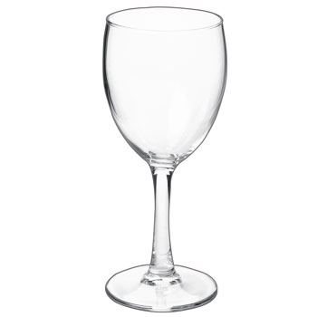 8.5 ounces nuance clear stem wine glass MADE IN USA