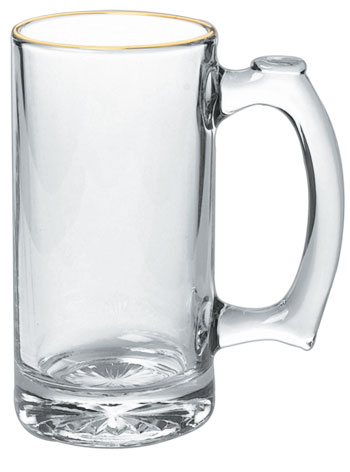 13 oz Libbey thumbprint glass mug