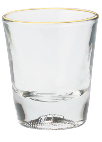 1.5 oz Libbey football sport shot glass