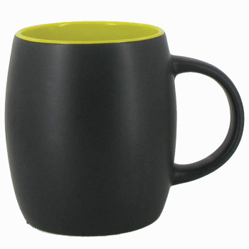 14 oz Robustot matte finish mug - black/yellow