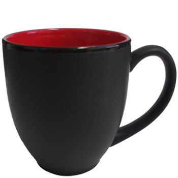 15 Oz Hilo Bistro Matte Black Out Gloss Red In