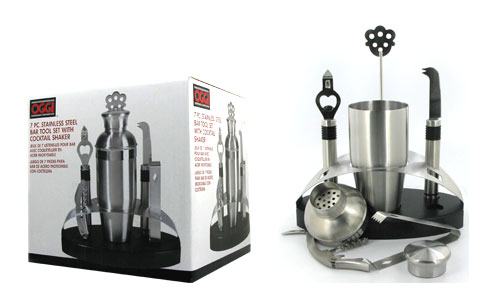 7 pc. stainless steel bar tool set