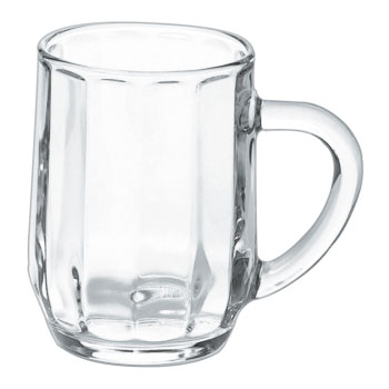 10 oz distinction haworth glass mugs  MADE IN USA