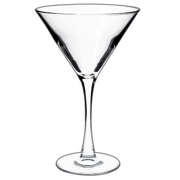 10 oz tall martini glass