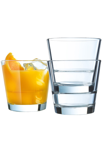 7 oz StackUp OTR Juice Side glass