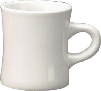 10 oz diner mug - european white-vitrified