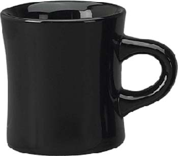 10 oz diner mug - black - vitrified