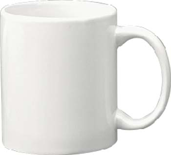 11 oz c - handle mug, european white vitrified