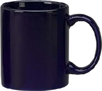 11 oz c - handle mug, cobalt-vitrified